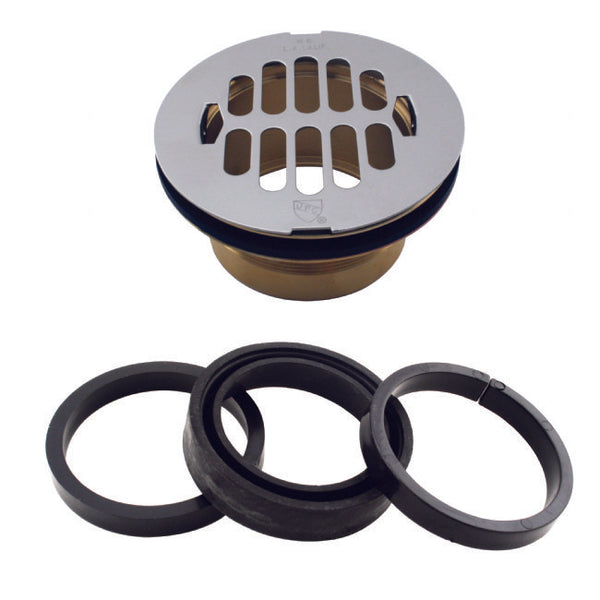 Westbrass D206B-LAS Brass Body Swedge-Lock Shower Drain with Grid