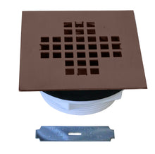 Load image into Gallery viewer, Westbrass D206PS 2 in. Sch 40 PVC Shower Drains with 4-1/4 in. Square Cover