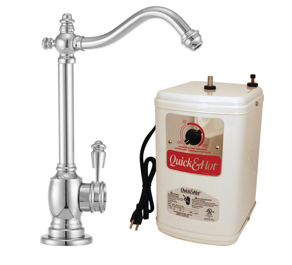 Westbrass D207H Victorian 1-Handle Hot and Cold Water Dispenser Faucet with Instant Hot Tank