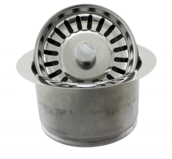 Westbrass D2082S InSinkErator Style Extra-Deep Disposal Flange and Strainer