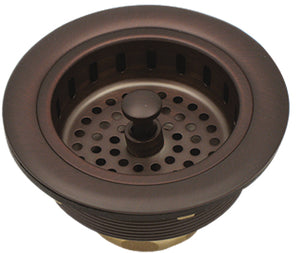 Westbrass D2165 Post Style Large Kitchen Basket Strainer w/InSinkErator Style Disposal Flange & Stopper
