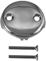 Load image into Gallery viewer, Westbrass D329 3-1/8 in. Two-Hole Overflow Face Plate and Screws