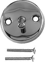 Westbrass D330 3-1/8 in. Two-Hole Trip Lever Overflow Face Plate and Screws