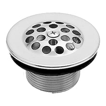 "Load image into Gallery viewer, Westbrass D3311-F 1-3/8"" Bath Drain with Grid and Screw"