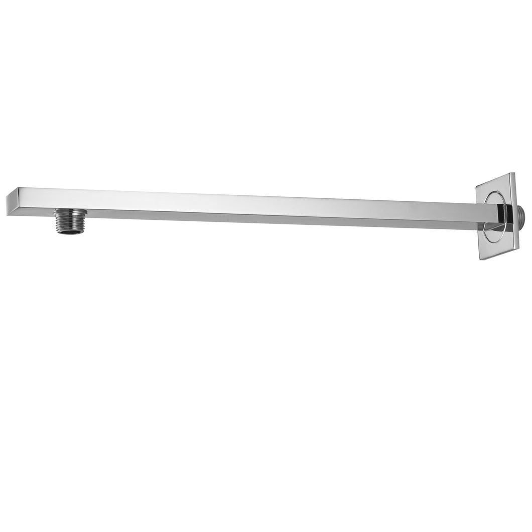 Westbrass D3712 1/2 in. IPS x 16 in. Square 90-Degree Rain Arm with Flange