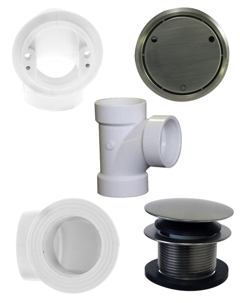 Westbrass D493CHPM Closing Metalic Overflow Plumber's Pack