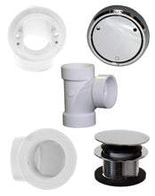 Load image into Gallery viewer, Westbrass D493CHPM Closing Metalic Overflow Plumber's Pack