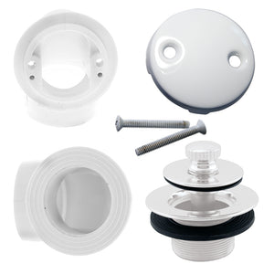 Westbrass D542 Twist & Close Sch. 40 PVC Plumber's Pack with Two-Hole Elbow
