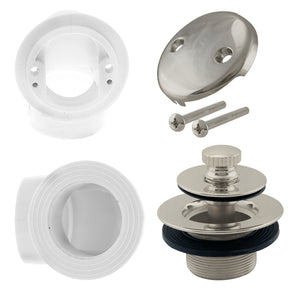 Westbrass D572 Pull & Drain Sch. 40 PVC Plumber's Pack with Two-Hole Elbow