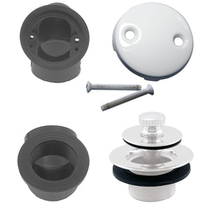 Westbrass D574 Pull & Drain Sch. 40 ABS Plumber's Pack with Two-Hole Elbow