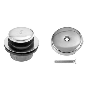 Westbrass D93 Tip Toe Tub Trim Set with One-Hole Overflow Faceplate