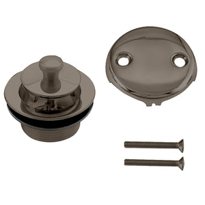 Westbrass D94-2 Twist & Close Tub Trim Set with Two-Hole Overflow Faceplate