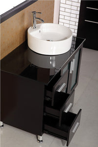 "Design Element DEC066B-E Malibu 39"" Single Sink Vanity Set in Espresso"
