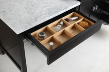 "Load image into Gallery viewer, Design Element DEC076D_MUT London 36"" Single Sink Vanity Set in Espresso with One Make-up table in Espresso"