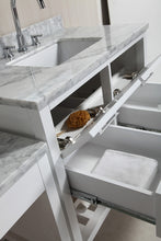 "Load image into Gallery viewer, Design Element DEC077A-WX2_MUT-W Two London 36"" Single Sink Vanity Set in White with One Make-up table in White"