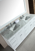 "Load image into Gallery viewer, Design Element DEC088-W London 78"" Double Sink Vanity Set in White"