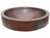 Eden Bath EB_C009AD Semi Recessed Copper Vessel Sink With Apron, Antique Dark