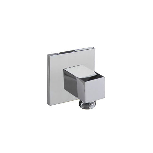 Fluid Jovian FP6001047 Handheld Shower Wall Outlet with Square Escutcheon Polished Chrome