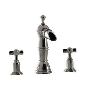 "Santec 6120ET10 Widespread Lavatory W/ ET Handle (Includes 1/2"" Valves), Polished Chrome"