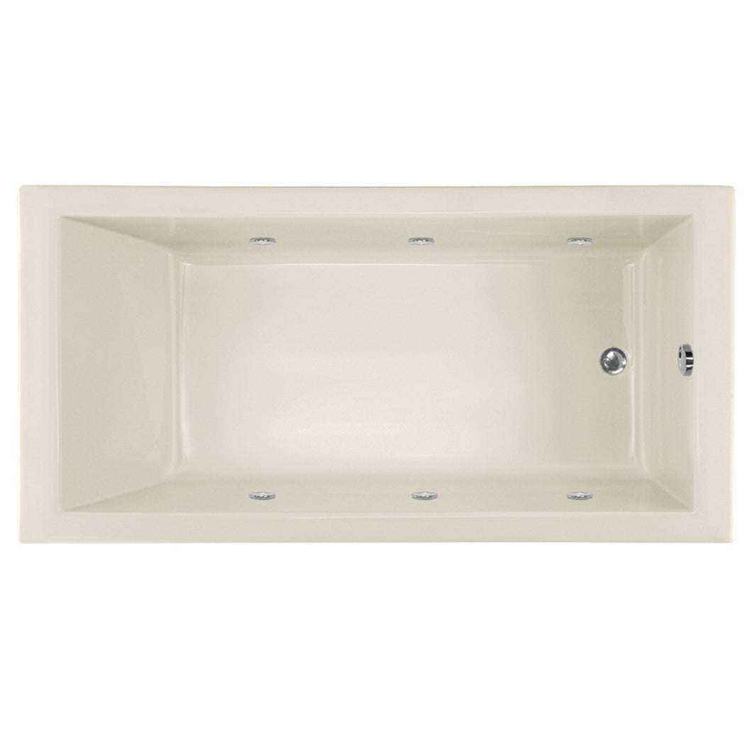 Hydro Systems LAC6032ACOS Lacey 60 X 32 Acrylic Airbath & Whirlpool Combo Tub System Shallow Depth