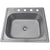 "Nantucket Sinks NS2522-8 25"" Small Rectangle Single Bowl Self Rimming Stainless Steel Drop In Kitchen Sink, 18 Gauge"