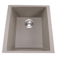 "Load image into Gallery viewer, Nantucket Sinks 17"" Single Bowl Undermount Granite Composite Bar-Prep Sink"