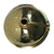 "Nantucket Sinks 13"" Hand Hammered Brass Round Undermount Bathroom Sink w/Overflow"