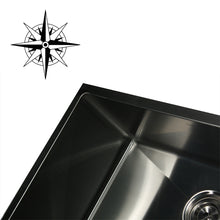 Load image into Gallery viewer, Nantucket SR2318-16 - 23 Inch Rectangle Single Bowl Undermount Stainless Steel