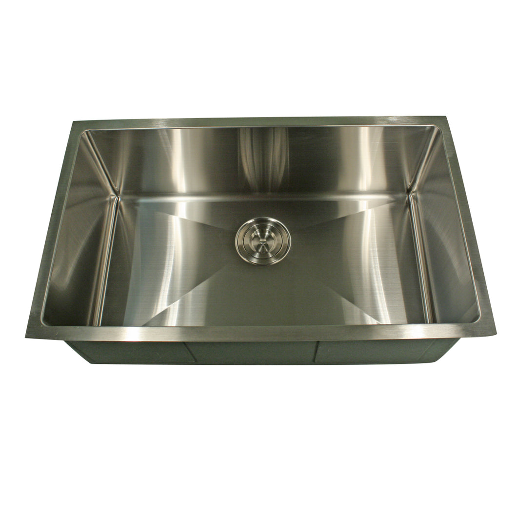 Nantucket SR2318-16 - 23 Inch Rectangle Single Bowl Undermount Stainless Steel