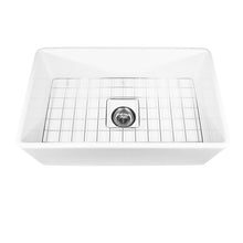 "Load image into Gallery viewer, Nantucket Sinks 30"" Fireclay Farmhouse Kitchen Sink"