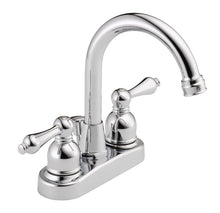 Load image into Gallery viewer, Westbrass WAS00X 4 in. Centerset 2-Handle High-Arc Bathroom Faucet with Drain
