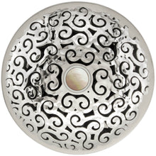 Load image into Gallery viewer, Linkasink D016 PH Swirl Grid Strainer Polished Hammered Finish Sphere Screw