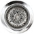 Linkasink D056 Swirl Basket Strainer Polished Hammered Finish