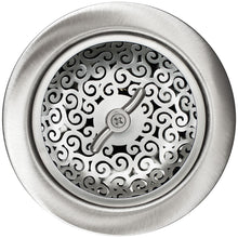 Load image into Gallery viewer, Linkasink D056 Swirl Basket Strainer Polished Hammered Finish