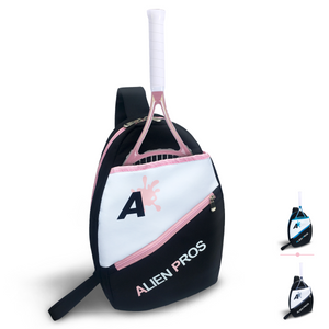 Alien Pros Lightweight Tennis Sling Backpack for Your Racket and Other Essentials - Pack Quickly and Lightly for Tennis and in Life - Tennis Racket Bag Sling Bag for Men and Women