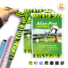 Load image into Gallery viewer, Alien Pros Golf Grip Wrapping Tapes (24-Pack) - Innovative Golf Club Grip Solution - Enjoy a Fresh New Grip Feel in Less Than 1 Minute