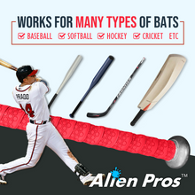 Load image into Gallery viewer, Alien Pros Bat Grip Tape for Baseball (4 Grips) – 1.1 mm Precut and Pro Feel Bat Tape – Replacement for Old Baseball bat Grip – Wrap Your Bat for an Epic Home Run (4 Grips)