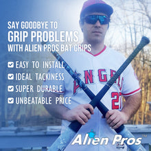Load image into Gallery viewer, Alien Pros Bat Grip Tape for Baseball (2 Grips) – 1.1 mm Precut and Pro Feel Bat Tape – Replacement for Old Baseball bat Grip – Wrap Your Bat for an Epic Home Run (2 Grips)