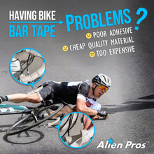 Load image into Gallery viewer, Alien Pros Bike Handlebar Tape EVA (Set of 4) Black Red White Blue Pink Green - Enhance Your Bike Grip with These Bicycle Handle bar Tape - Wrap Your Bike for an Awesome Comfortable Ride