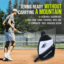 Load image into Gallery viewer, Alien Pros Lightweight Tennis Sling Backpack for Your Racket and Other Essentials - Pack Quickly and Lightly for Tennis and in Life - Tennis Racket Bag Sling Bag for Men and Women