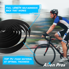 Load image into Gallery viewer, Alien Pros Bike Handlebar Tape EVA (Set of 2) Black Red White Blue Pink Green - Enhance Your Bike Grip with These Bicycle Handle bar Tape - Wrap Your Bike for an Awesome Comfortable Ride