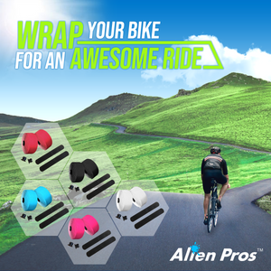 Alien Pros Bike Handlebar Tape PU (Set of 4) Black Red White Pink Blue - Enhance Your Bike Grip with These Bicycle Handle bar Tape - Wrap Your Bike for an Awesome Comfortable Ride