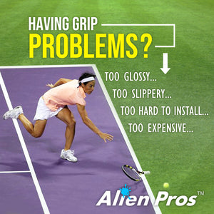 Alien Pros Tennis Racket Grip Tape (12 Grips) – Precut and Dry Feel Tennis Grip – Tennis Overgrip Grip Tape Tennis Racket – Wrap Your Racquet for High Performance (12 Grips)