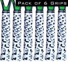 Load image into Gallery viewer, Alien Pros Tennis Racket Grip Tape (6 Grips) – Precut and Dry Feel Tennis Grip – Designer Tennis Overgrip Grip Tape Tennis Racket – Wrap Your Racquet for High Performance (6 Grips)