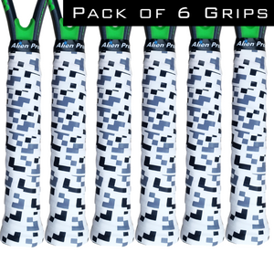 Alien Pros Tennis Racket Grip Tape (6 Grips) – Precut and Dry Feel Tennis Grip – Designer Tennis Overgrip Grip Tape Tennis Racket – Wrap Your Racquet for High Performance (6 Grips)