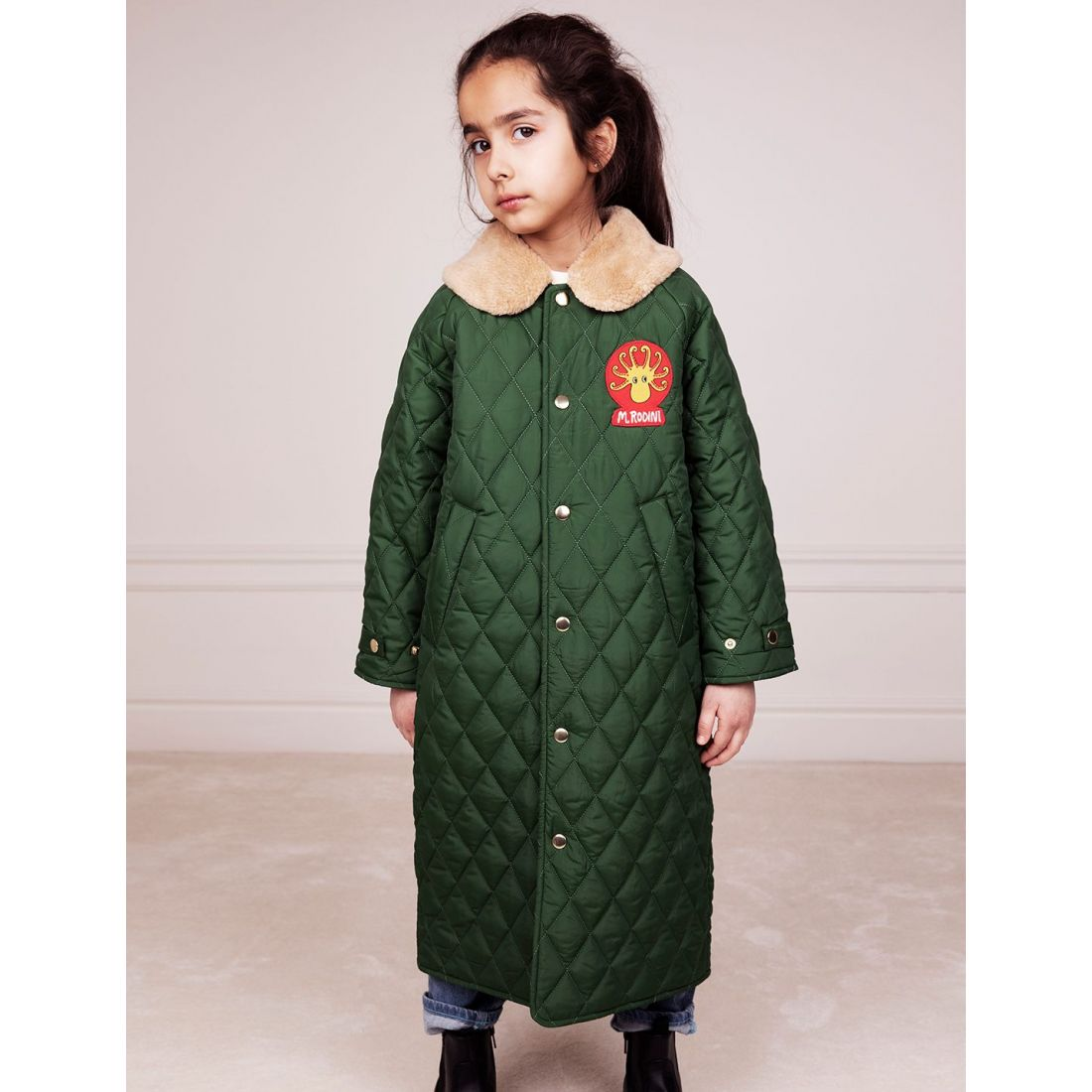 Пальто Quilted green