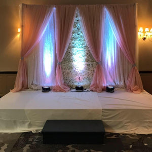 Wedding Backdrop SHEER LAYERED SILK FLOWER WALL RENTAL