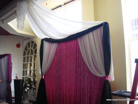 Pink White Black Crystal Wedding Event Backdrop Rental Severn Maryland