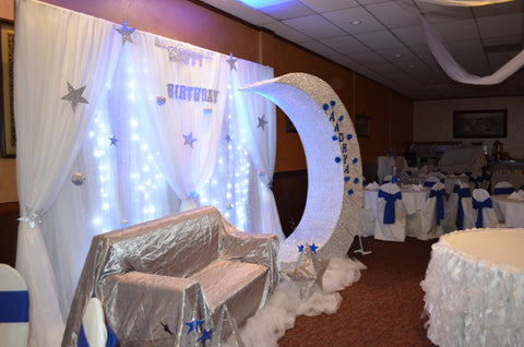 Fairytale Fairy Light Birthday Backdrop Rental Severn MD 1st Birthday Indian Decorator