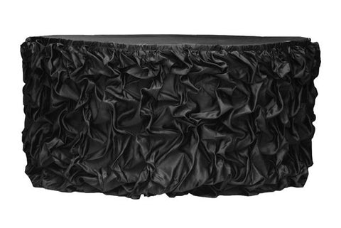 Stylish Black Table Skirt